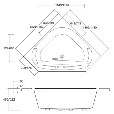 ario-corner-bath-dimensions