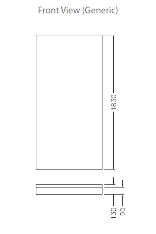 valencia angle shower system 1000 derwent park